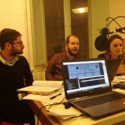 Da sinistra: Biagio Distefano (No), Cosimo Francini (speaker), Valeria Donato (Si)