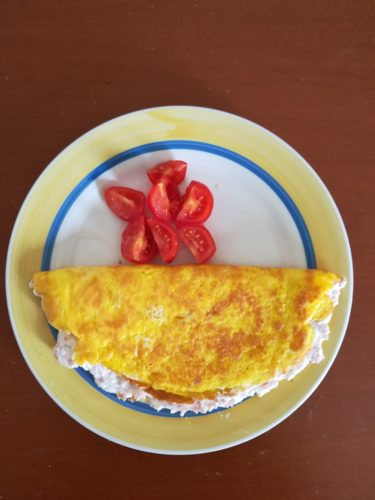 alt= omelette, ricotta, arte