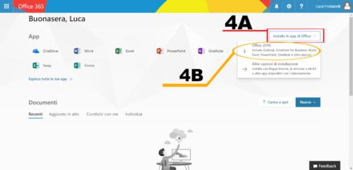 Homepage di Office
