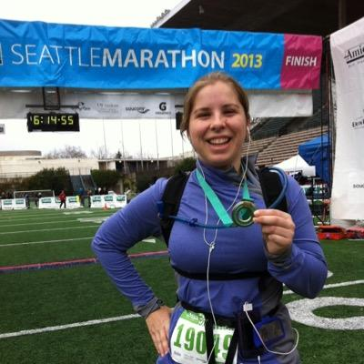 Dana Lewis alla maratona di Seattle.