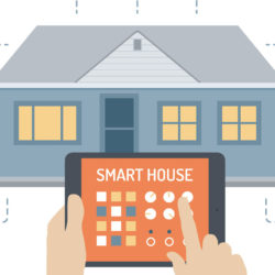 """Una casa domotica e un tablet """"telecomando""""."""