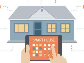 Una casa domotica e un tablet