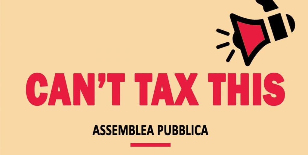 Manifesto dell'assemblea sulle tasse